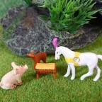 3. Frühstück mit Toni dem Zirkuspferd und Astrid dem Reh
